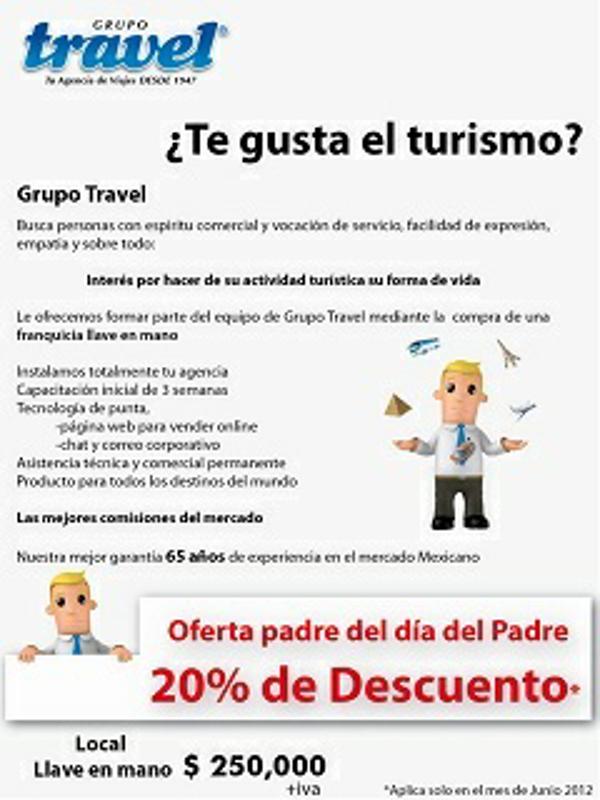 Grupo Travel ofrece la franquicia llave en mano