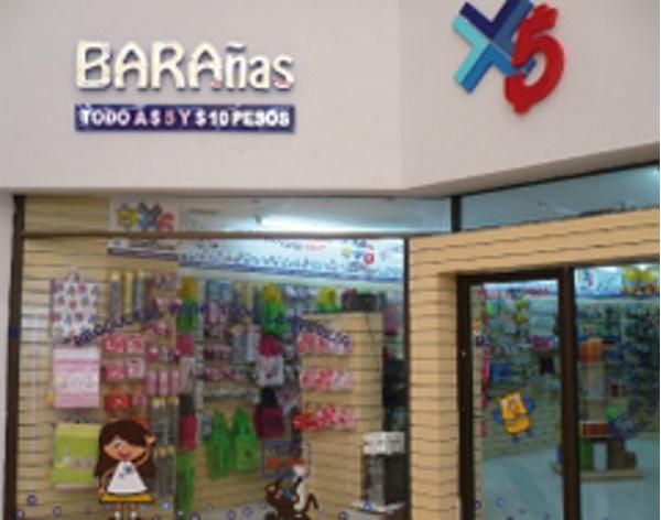 Nueva franquicia Bara�as Todo a 5 pesos