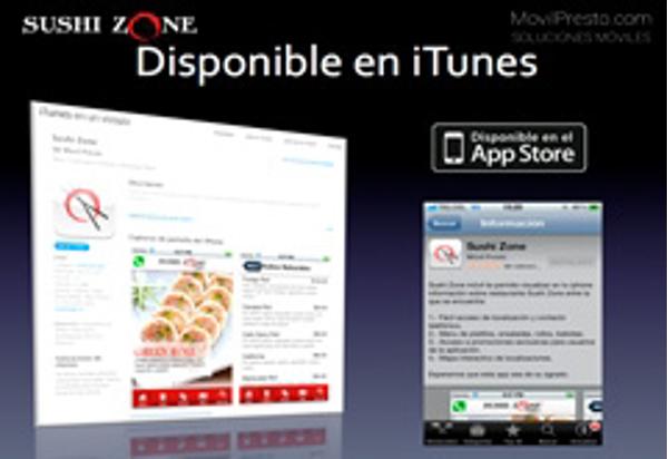 Disfruta de las franquicias Sushi Zone desde tu smart phone