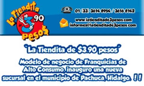 La Tiendita de $3.90 pesos inauguró en el municipio de Pachuca, Hidalgo