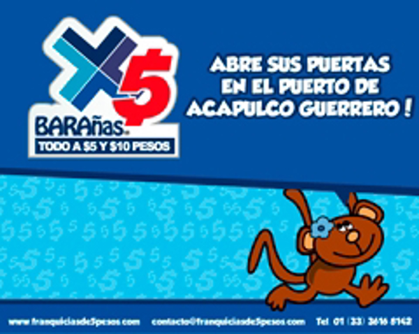 Barañas 5 pesos abre sus puertas en el puerto de Acapulco Guerrero