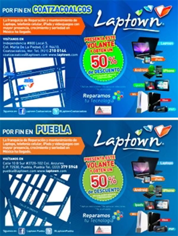 Laptown inaugura dos nuevas franquicias en Coatzacoalcos y en Puebla