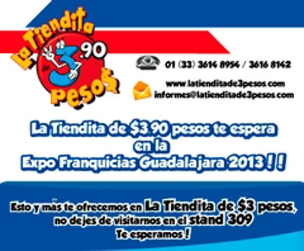 La Tiendita de $3.90 pesos te espera en Expo Franquicias Guadalajara  2013