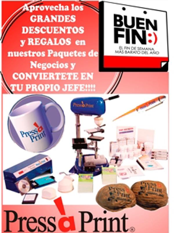 """La franquicia Press a Print prepara grandes descuentos para """"El Buen Fin"""""""