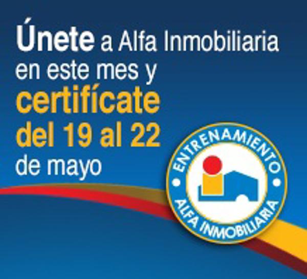 Certif�cate en este mes con las franquicias Alfa Inmobiliaria