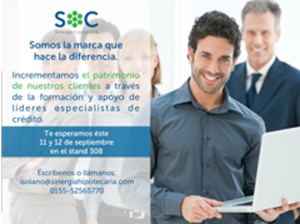 SOC Sinergia Hipotecaria participa en Expo Franquicia T en Monterrey