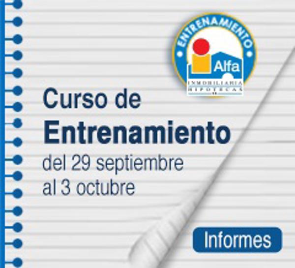 A pocos días para el inicio del Curso de Entrenamiento Inmobiliario de las franquicias Alfa Inmobiliaria